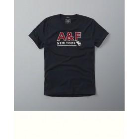 TSA418 - Áo thun nam Abercrombie Fitch Red Text Graphic Tee hàng hiệu nhập khẩu