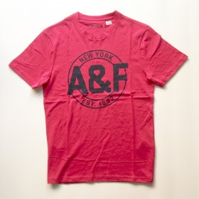 TSAA438 - Áo thun nam Abercrombie Fitch Red Pink Tee Graphic