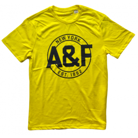 TSAA439 - Áo thun nam Abercrombie Fitch Yellow Tee Graphic