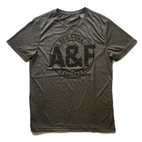 TSAA446 - Áo thun nam Abercrombie Fitch Dark Gray Tee Graphic